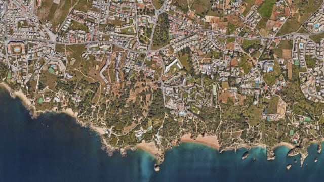 Satellite map overview of Evaristo Project, Algarve, Portugal