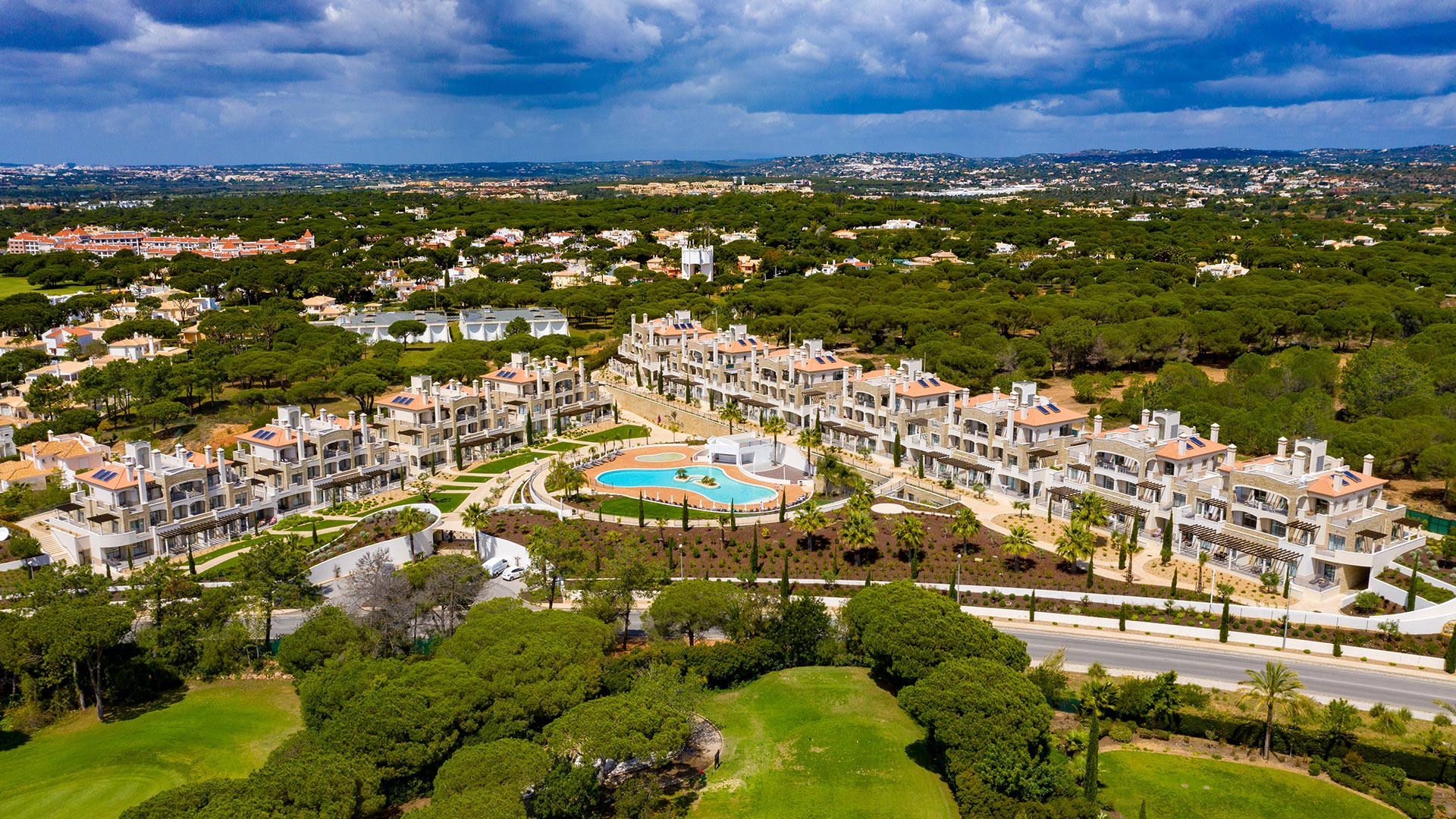 Aerial view of Pine Hills, Vilamoura, Portugal