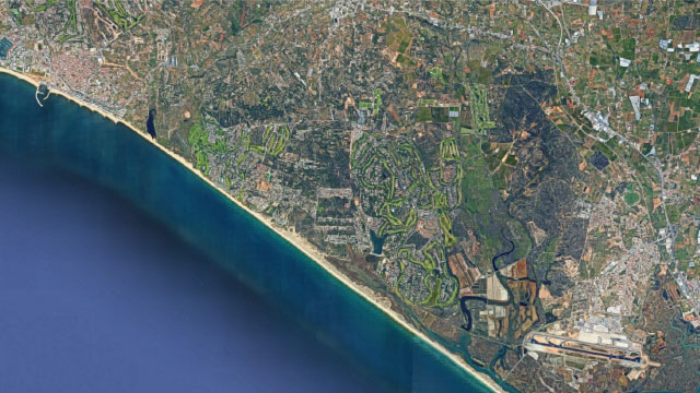 Satellite map overview of Quinta Do Lago Project, Algarve, Portugal