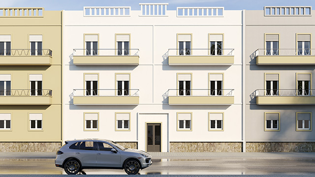 3D exterior photo of No.9, Faro, Portugal