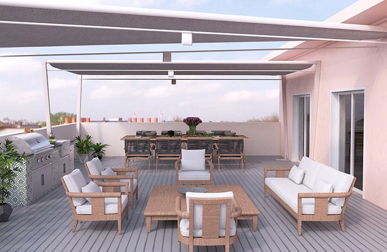 Terrace | Three-bedroom penthouse